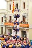 Castellers Fotografía de archivo