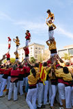 Castellers 4*7 Stock Image