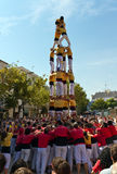 Castellers 4*7 Royalty Free Stock Image