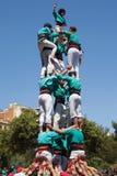 Castellers av La Sagrada Familia Royaltyfri Bild