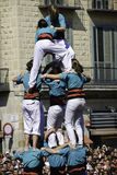 Castellers Barcelona Royalty Free Stock Images