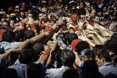 Castellers Barcelona Stock Photos