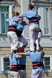 Castellers Barcelona Royalty Free Stock Image