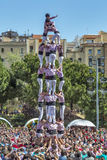 Castellers Barcelona 2013 Arkivfoto