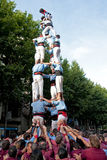 Castellers in Barcelona, Spain Royalty Free Stock Images