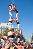 Castellers in Barcelona, Spain Stock Image