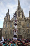 Castellers in Barcelona, Spain Royalty Free Stock Photos