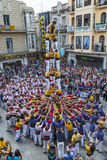 Castellers Barcelona  2013 Royalty Free Stock Photos