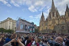 Castellers in Barcelona, Spanien Lizenzfreie Stockfotografie