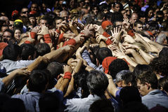 Castellers Barcelone Photos stock