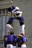 Castellers Barcelone Photos libres de droits