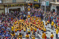 Castellers Barcelone 2013 Images stock