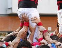 Castellers in Catalonia Stock Photos