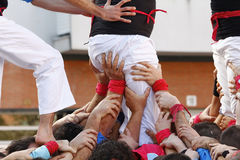 Castellers in Catalonia Royalty Free Stock Photography