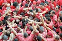 Castellers de Barcelona Stock Image
