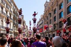 Castellers de Barcelona Royaltyfri Bild