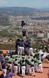 Castellers en Barcelona 2 Fotografía de archivo