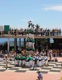 Castellers en Barcelona 5 Fotografía de archivo