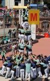 Castellers en Barcelona 1 Fotos de archivo libres de regalías