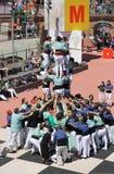 Castellers en Barcelona 10 Imagen de archivo libre de regalías