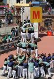 Castellers en Barcelona 7 Imagen de archivo libre de regalías