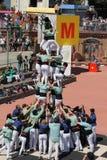 Castellers en Barcelona 6 Fotografía de archivo libre de regalías
