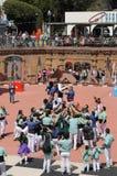 Castellers en Barcelona 8 Foto de archivo libre de regalías