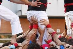 Castellers i Catalonia Royaltyfri Fotografi