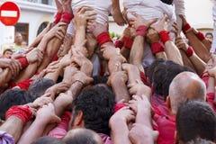 Castellers i Catalonia Royaltyfri Foto