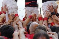Castellers i Catalonia Arkivbild