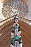 Castellers i Tarragona Arkivfoto
