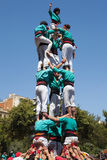 Castellers of La Sagrada Familia Royalty Free Stock Image