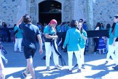 Castellers mänskligt torn från Catalonia Royaltyfria Foton