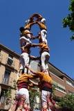 Castellers mänskligt torn från Catalonia, Spanien Royaltyfri Bild