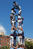Castellers of Poble Sec Stock Photo
