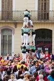 Castellers, tradición catalan fotografía de archivo libre de regalías