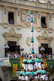 Castellers Royalty Free Stock Images