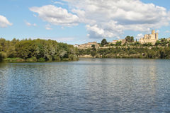 Castellet Castle and Foix dam Royalty Free Stock Photography