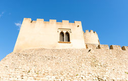 Castellet Castle near Foix dam at Barcelona, Spain Royalty Free Stock Images