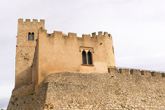 Castellet Castle near Foix dam at Barcelona, Spain Royalty Free Stock Photography