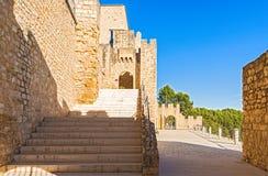 Castellet kasztel blisko Foix tamy przy Barcelona, Hiszpania Zdjęcia Royalty Free