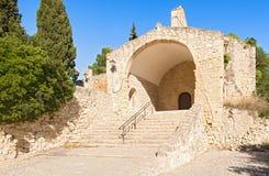 Castellet kasztel blisko Foix tamy przy Barcelona, Hiszpania Obraz Stock