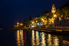 Castelletto di Brenzone at night Royalty Free Stock Images