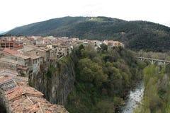 Castellfollit de la Roca Royaltyfri Bild