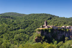 The Castellfollit de la roca, Spain. The Castellfollit de la roca in Spain stock photography