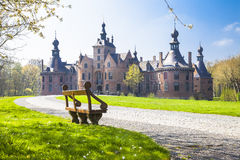 Castelli del Belgio Ooidonk, le Fiandre orientali Immagini Stock