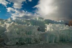 Castelli del ghiaccio Immagine Stock