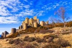 Castelli della Spagna - Loare nell'Aragona Immagini Stock Libere da Diritti