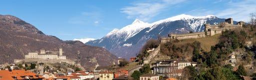 Castelli della Svizzera, Bellinzona Immagine Stock