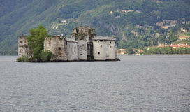 Castelli di Cannero. Island castle in Lake Maggiore Stock Image